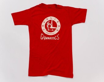 80s Soft Vintage T-Shirt | Cavaliers Gymnastics - Cherry Hill, N.J. | Sz Small | Original Tee