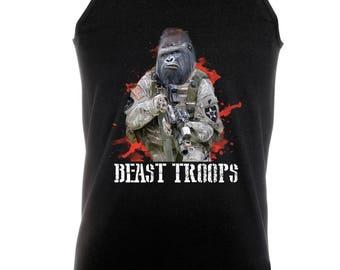Beast Troops Army Gorilla - Black Cotton Vest