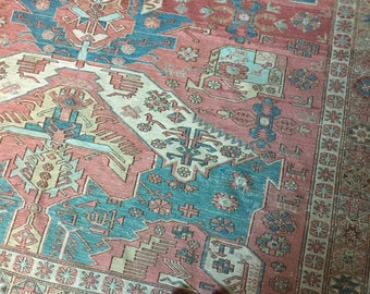 RARE Antique Dragon Pattern Soumak Wool Brocade Kilim Extra Fine