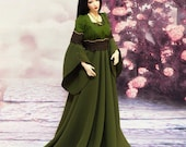 Iple FID Moss Green fantasy elven dress (outfit for FID Iplehouse lady)