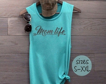 Mom Life shirt, mom life tank, gift for mom, gift for her, mommin' ain't easy, baby shower gift, mom tee, plus size, mom to be, mom tank