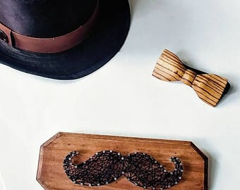 Movember DIY kit, 5 dollars per kit are given to the foundation, Mustache String art, string art kit,