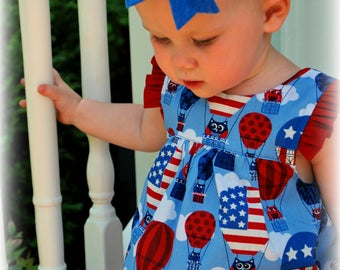 Patriotic baby dress 4th July baby dress Patriotic dress 4ht July dress My first 4th July Sizes Newbn 0-3m 3-6 6-12, 1,2,3,4,5,6,7,8,9,10