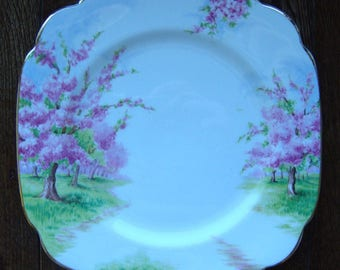 Blossom Time - Luncheon Plate - Royal Albert Bone China England - Scenic - Trees with Pink Apple Blossoms -  Starter or Replacement Pieces