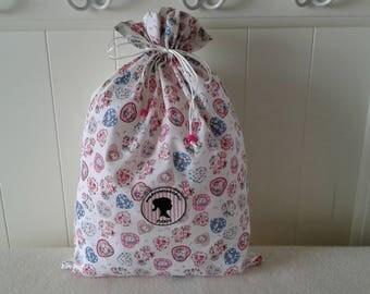 Floral hearts, romantic print lingerie pouch