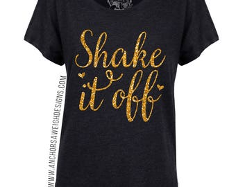 Shake it Off Glitter Tri-blend Dolman