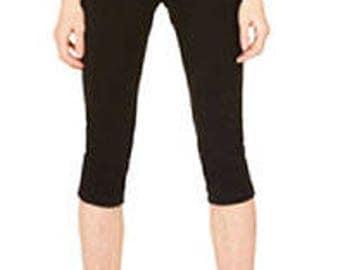 Plexus Cotton Spandex Capri Fit Leggings