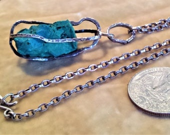 Sterling Silver Chrysocolla Stone Necklace