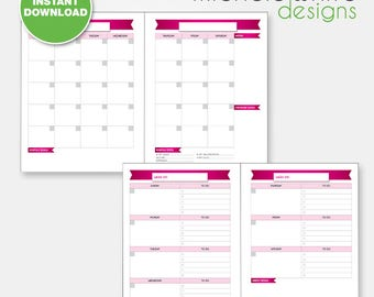 Editable PDF, Direct Sales Calendar, Monthly/Weekly, PINK - Instant Download
