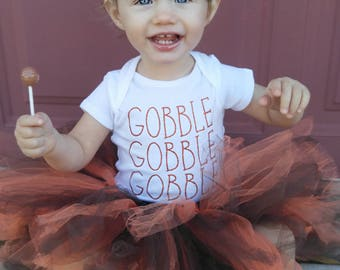 GOBBLE GOBBLE GOBBLE Onesie or Raglan - Thanksgiving Outfit - Gobble - Turkey Day Outfit