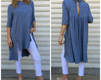 """Oversize Hi-Low Top / Loose Jersey Dress / Oversize Tunic Dress / Women Maxi Tunic Top - """"West Side""""  Ask a question"""