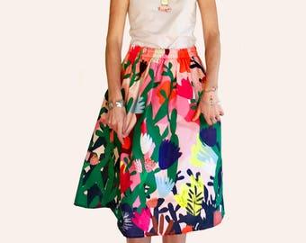 Mor Mor's Garden 100% cotton skirt (All sizes back in stock)