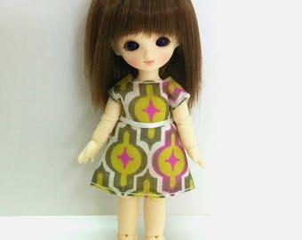 Retro Pattern Dress for Brownie/Obitsu11cm