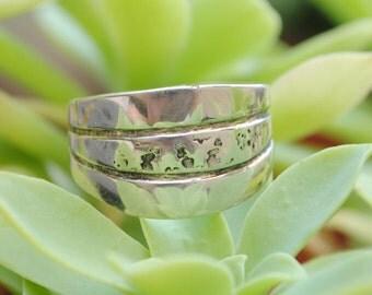 Silver ring - vintage ring - large ring