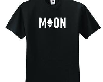 Ethereum - Cryptocurrency, Blockchain, Hodl, moon Unisex T-Shirt