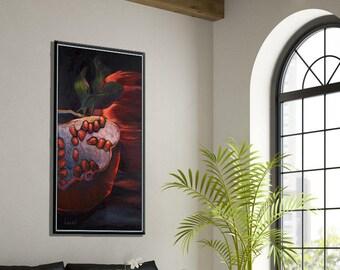 Entryway Art, Entryway Wall Decor, Modern Wall Decor Canvas Art Print, Art for Living Room, Original Artwork, Red Canvas Art