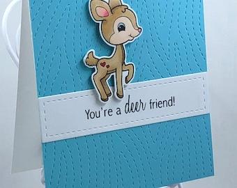 Deer Friend / Dear Friend Greeting Card
