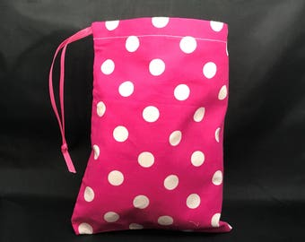 Pink and White Polka Dots - Quick Change Diaper Bag