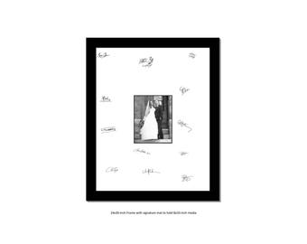 24x30 black signature frame for 8x10 or 11x14 inch wedding bridal anniversary