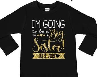 Big Sister Shirts - Personalized Big Sister Shirt - Announcement Shirts - Girls' Shirts - Future Big Sister Shirts - I'm Going to be a