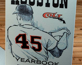 1964 Vintage Houston Colt .45's Yearbook - Canvas Gallery Wrap -  12 x 18
