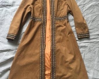 Long Camel Nehru Style Coat