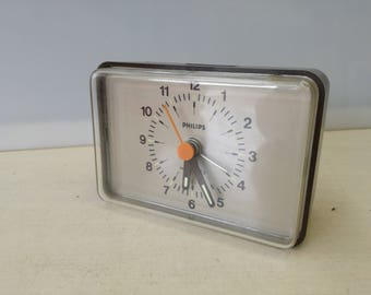 Vintage Philips battery alarm clock