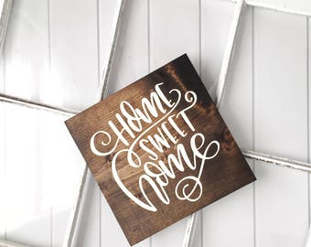 Home Sweet Home Sign // Home Sign // Wood Sign // Farmhouse Sign // Rustic Sign // Farmhouse Decor // I Love You Sign // Entry Way Decor