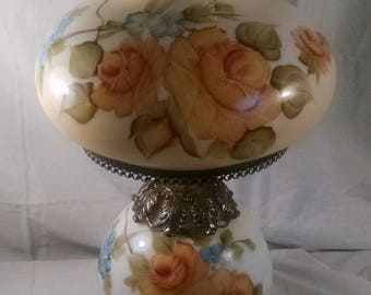 L&L WMC1971 Gone with the Wind Electric Hurricane Hand Painted Lamp