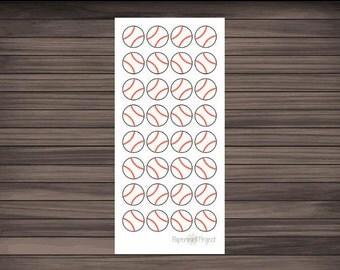 32 Baseball stickers