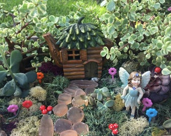 Charming DIY Complete Enchanted Fairy Garden With Light Up Tea Pot House