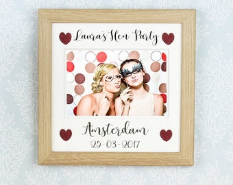 Personalised Hen Party photo frame, Hen do frame, Bachelorette party picture frame.