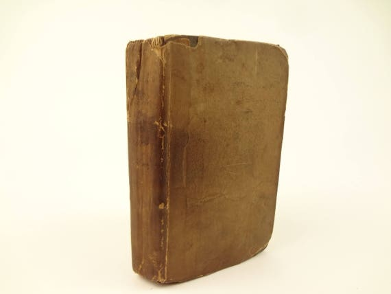 1755 The Following of Christ (The Imitation of Christ), Thomas a Kempis, translator Richard Challoner. Original Boards, pages not trimmed.