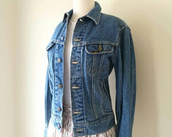 Vintage 1980s Lee denim jacket made in USA small