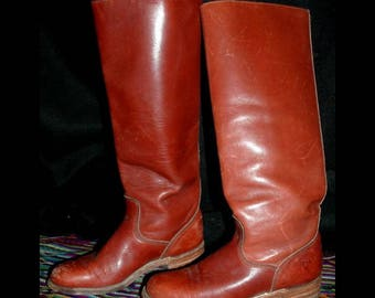 Vintage Frye Campus Boots Low Heal size 6 1/2 AA