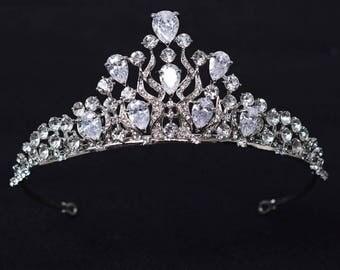 Swarovski bridal Tiara Crystal wedding tiara wedding diadem Rhinestone Tiara Wedding crown Luxury Tiara Crystal Headpiece Wedding Headpiece