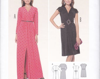 Free Us Ship Burda 6941 Sewing Pattern Evening Length Cocktail Dress Maxi Size 10/22 New Bust 32 34 36 38 40 42 44 plus New Unused