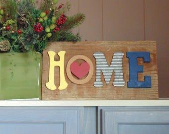 Barn wood wall art - HOME