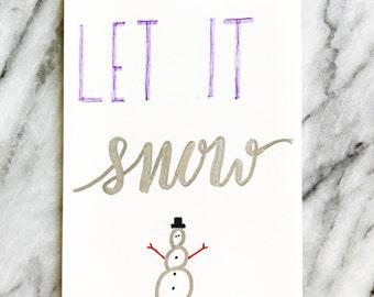 Let it Snow, Seasonal Card