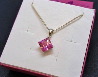 Pendant in Silver 925 Crystal pink elegant pink SK1166