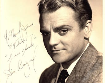 James Cagney Vintage Autographed Autograph Signed Hollywood Film Movie Vintage 8x10 Photograph 1940's Certified Authentic LOA Gangster