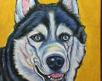 Aryclic dog portrait, Christmas gift, birthday, anniversary