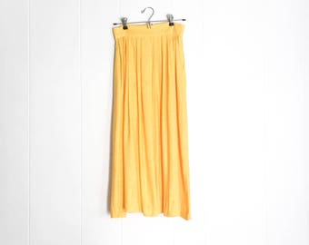 Vintage Maxi Skirt - Yellow Skirt - Summer Skirt - Long Skirts for Women - Maxi Skirts with Pockets - Long Skirt - Vintage Skirt -Boho Skirt