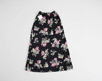 Long floral skirt | Etsy