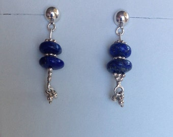 Lapis lazuli and Sterling Silver dangle earrings