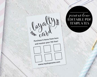 Gift certificate editable template instant download gift loyalty card templates instant download editable pdf business printables printable loyalty cards colourmoves