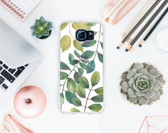 Valentines day Tropical leaves phone case fits Samsung S8 gift for her watercolor leaves case floral phone case gift for mom BFF gift OT13