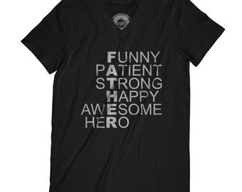 Fathers day shirt dad gift father is my hero shirt Grandpa gift Papa tshirt Best Family tshirt dad of the year gift APV17