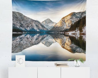 Lake Tapestry | Landscape Tapestry | Scenic Tapestry | Mountain Tapestry | Scenic Wall Decor | Mountain Wall Decor | Lake Decor