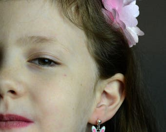 Child Easter Bunny Post Earrings
